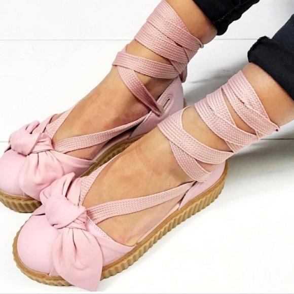 new product f140b 712ec NEW Puma Fenty by Rihanna Creeper Lace Up Sandals